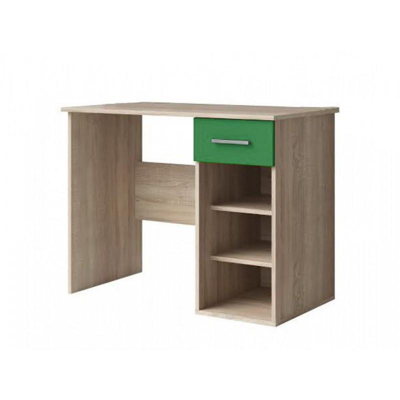 """Γραφείο παιδικό """"ΧΑΡΑ"""" σε δρυς-πράσινο χρώμα 95x55x75"""