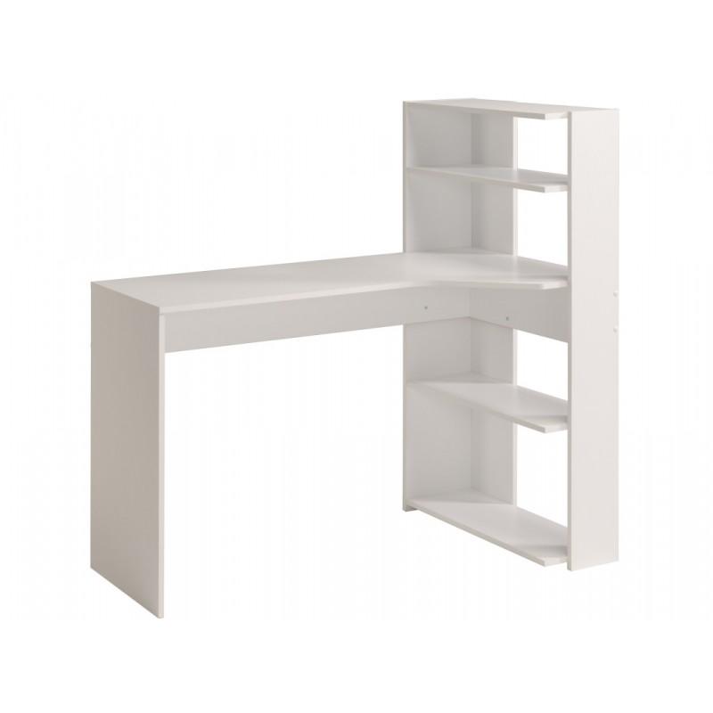 """Παιδικό γραφείο με βιβλιοθήκη """"CORNER"""" σε λευκό χρώμα 122x64x121"""