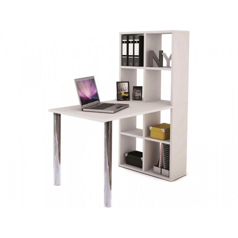 """Παιδικό γραφείο με βιβλιοθήκη """"LEXI"""" σε λευκό χρώμα 120x66x142"""