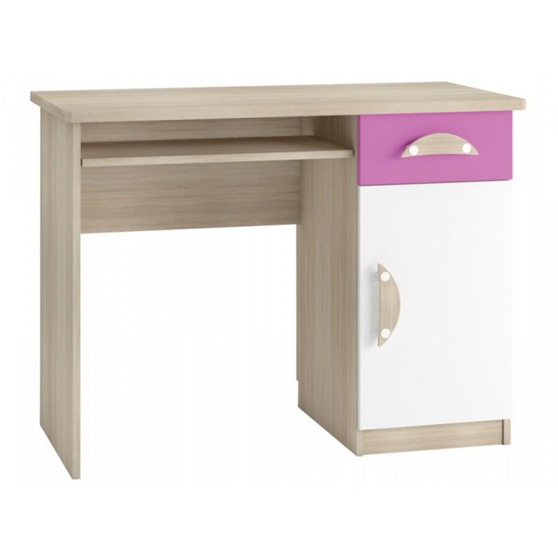 """Παιδικό γραφείο """"TENUS II"""" σε φυσικό-ροζ χρώμα 100x50x76"""