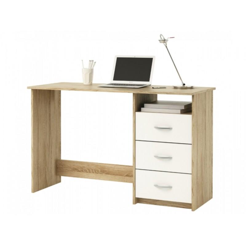 """Γραφείο παιδικό """"PLATON"""" σε φυσικό-λευκό χρώμα 123x50x76,5"""