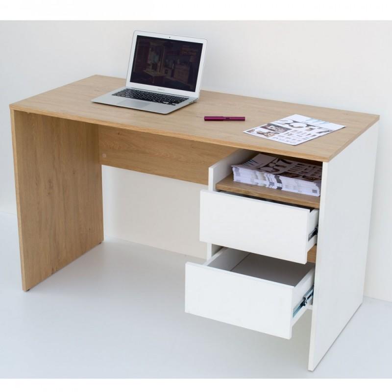 Γραφείο εργασίας σε λευκό-φυσικό χρώμα 120x55x75