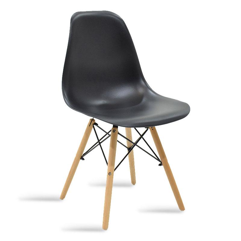 """Καρέκλα """"JULITA"""" pp σε χρώμα μαύρο-φυσικό 46x50x82"""