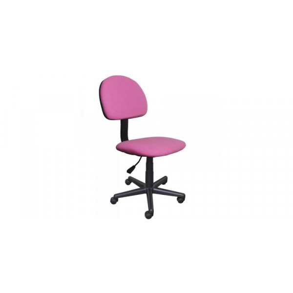 Καρέκλα γραφείου εργασίας σε χρώμα ροζ 45x58x80/90
