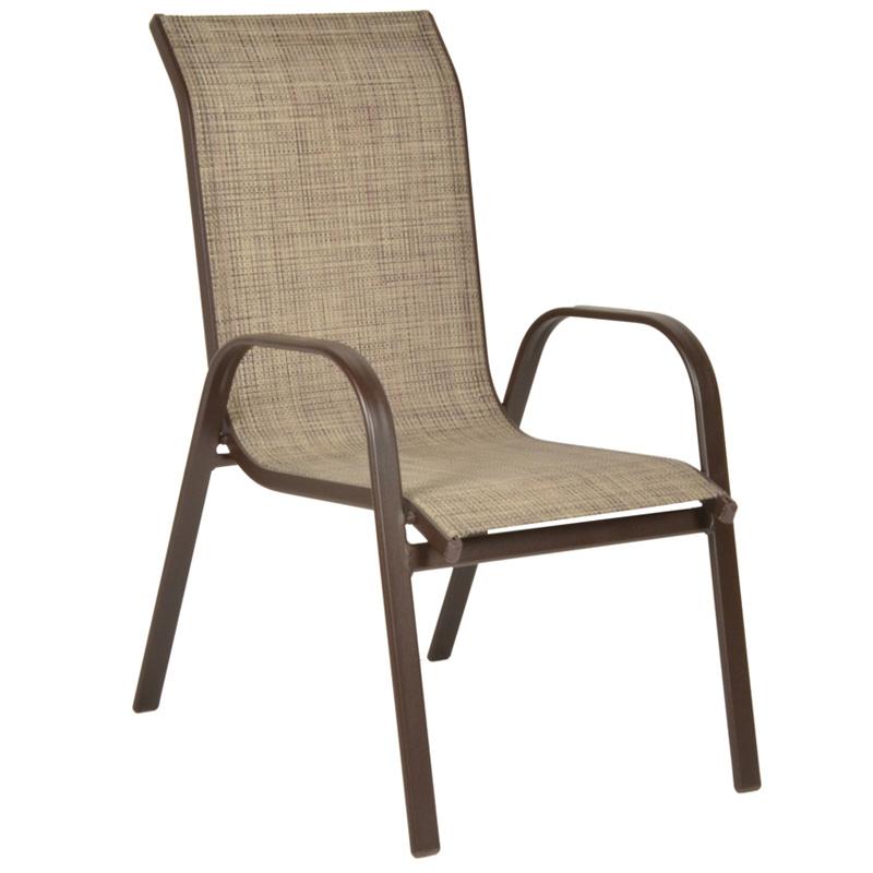 """Πολυθρόνα """"NANDIA"""" αλουμινίου με textilene σε χρώμα καφέ 57x71x95"""
