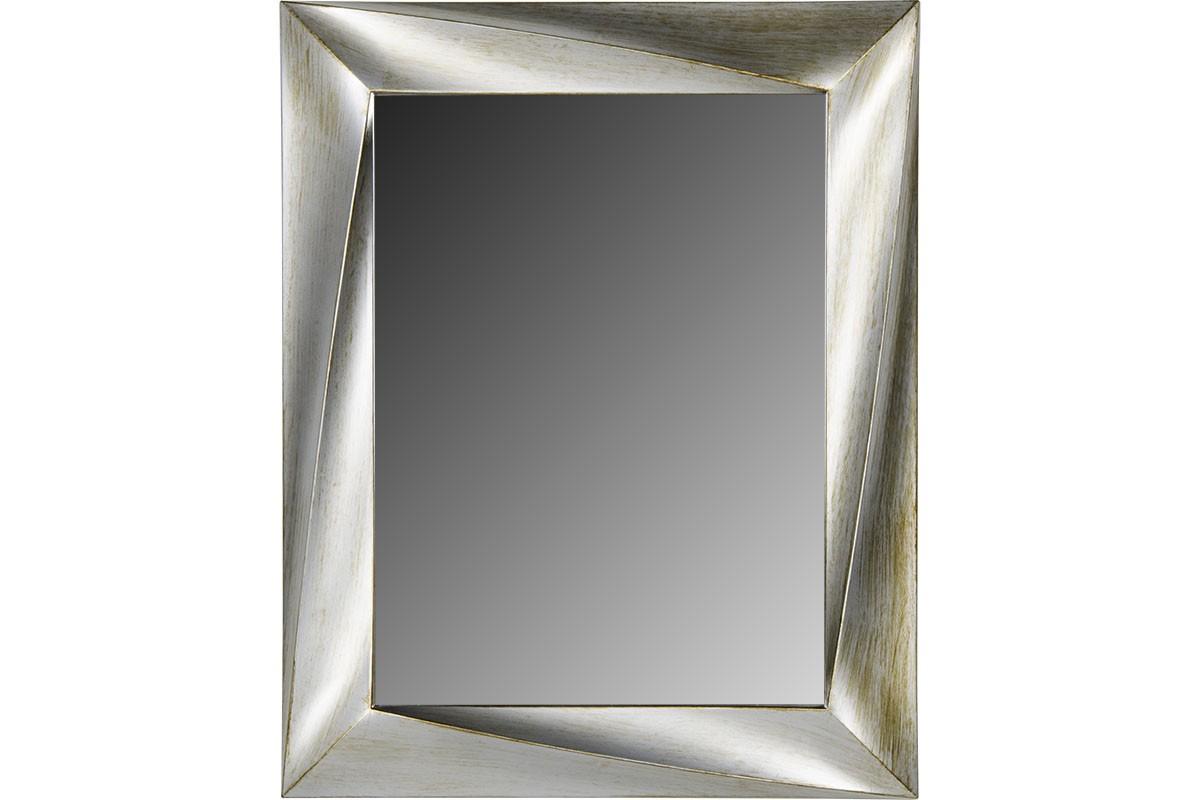 Ορθογώνιος πλαστικός καθρέπτης σε χρώμα κρεμ-σαμπανί 75×60