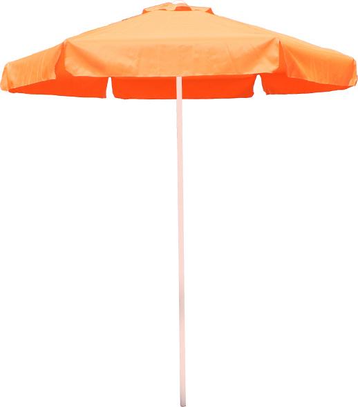 Ομπρέλα στρόγγυλη 2 μέτρα επαγγελματική και αδιάβροχο ύφασμα σε πορτοκαλί χρώμα
