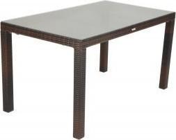 Τραπέζι «VIENNA» αλουμινίου-wicker σε χρώμα cappuccino 160x90x74
