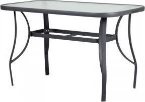 Τραπέζι «CORDOBA» αλουμινίου σε χρώμα ανθρακί 120x70x71