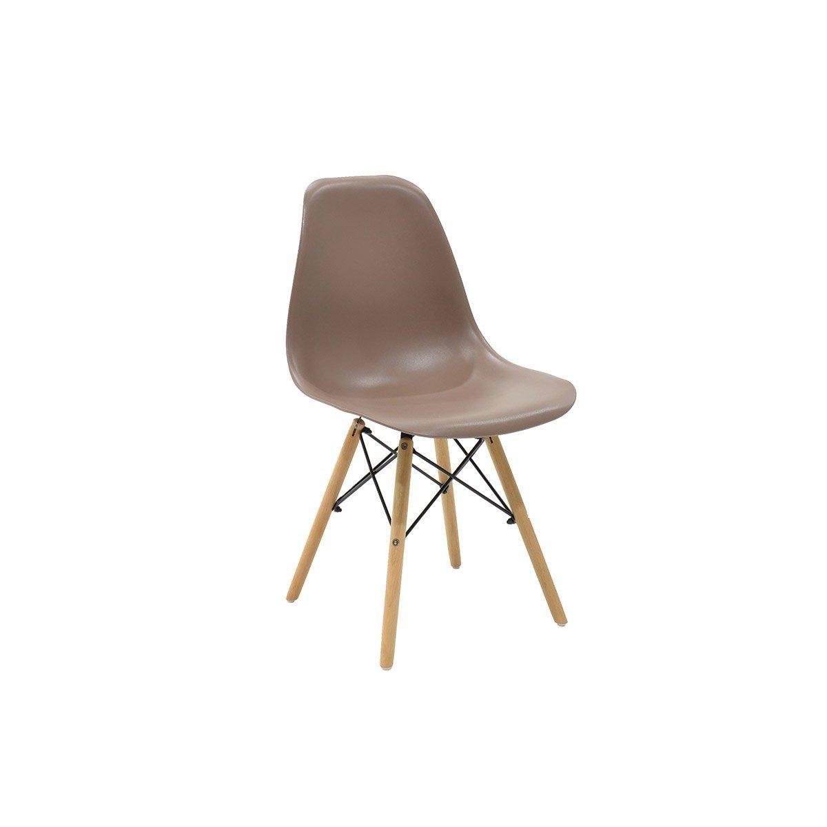 """Καρέκλα """"MALTA"""" από μασίφ ξύλο σε χρώμα μόκα 51x47x81"""