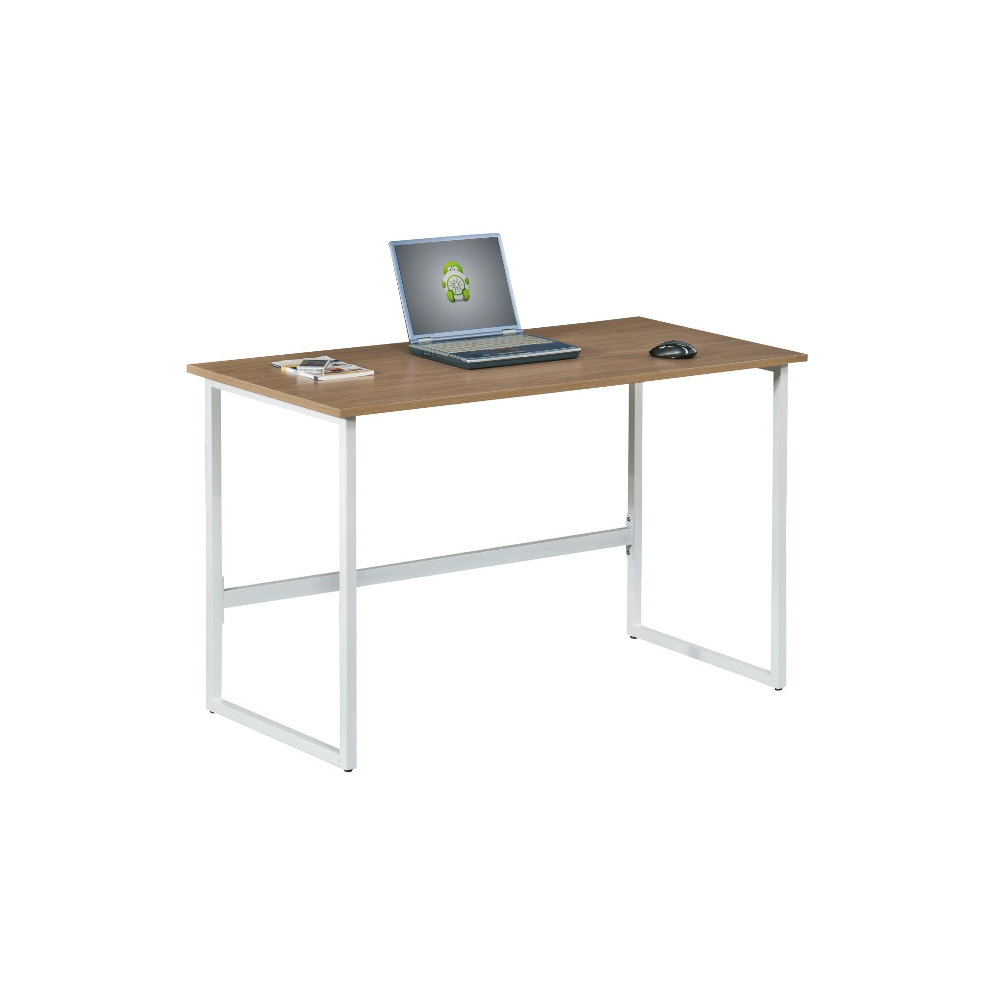 Γραφείο εργασίας σε χρώμα λευκό-καφέ 120x60x76