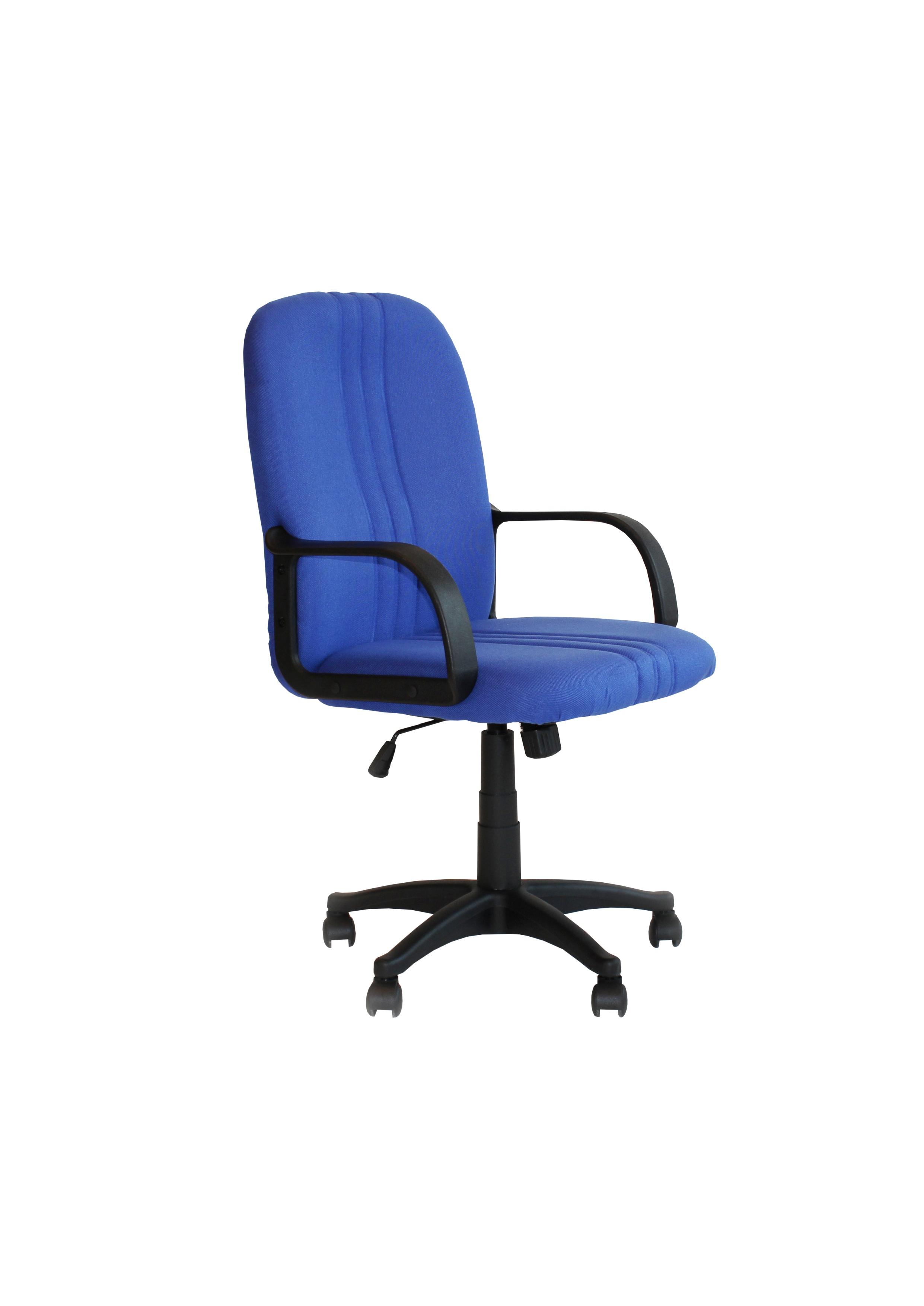 """Πολυθρόνα εργασίας """"ABSOLUTE"""" από ύφασμα σε χρώμα μπλε 63x68x105/115"""