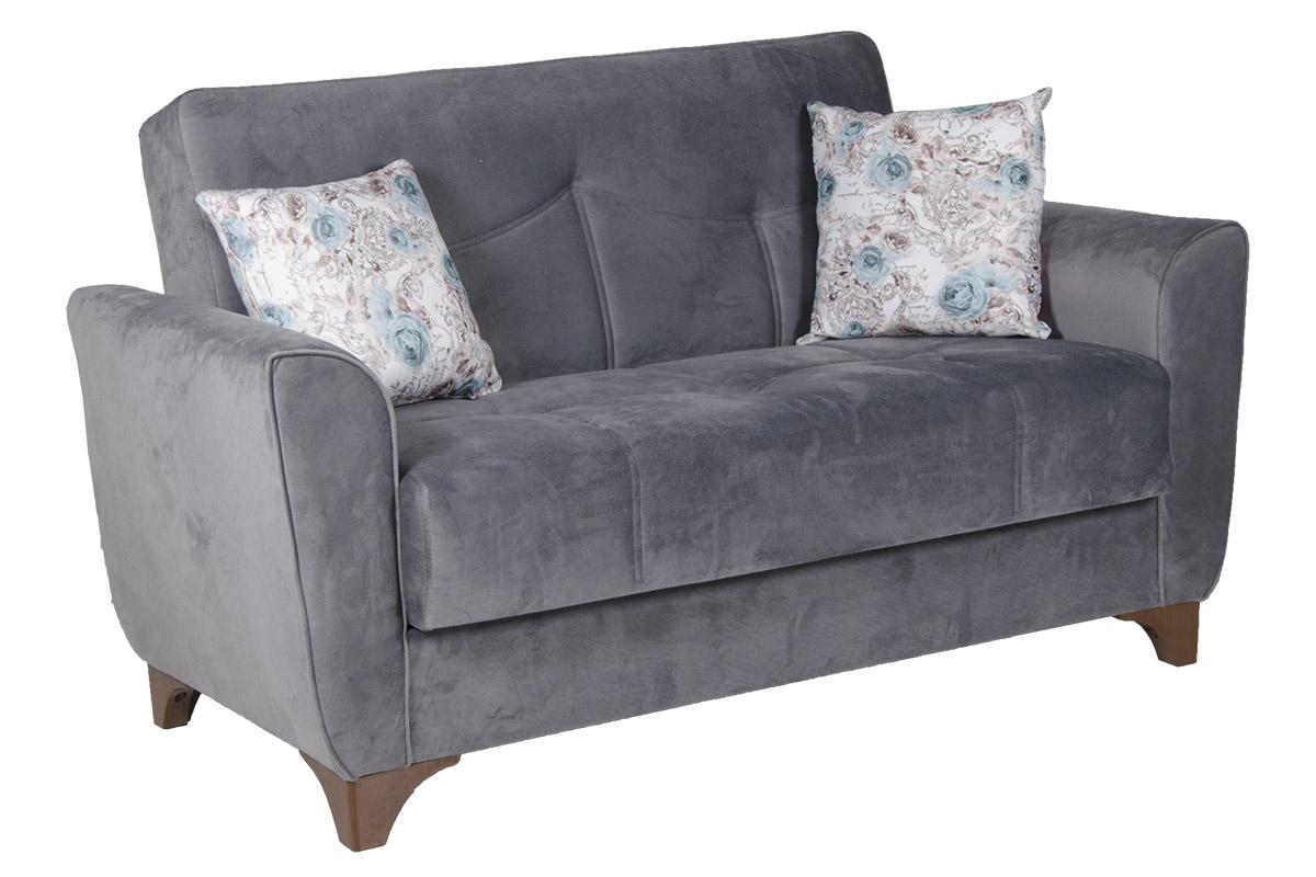 """Καναπές-κρεβάτι """"FLORIDA"""" διθέσιος υφασμάτινος σε χρώμα γκρι 153x88x90"""
