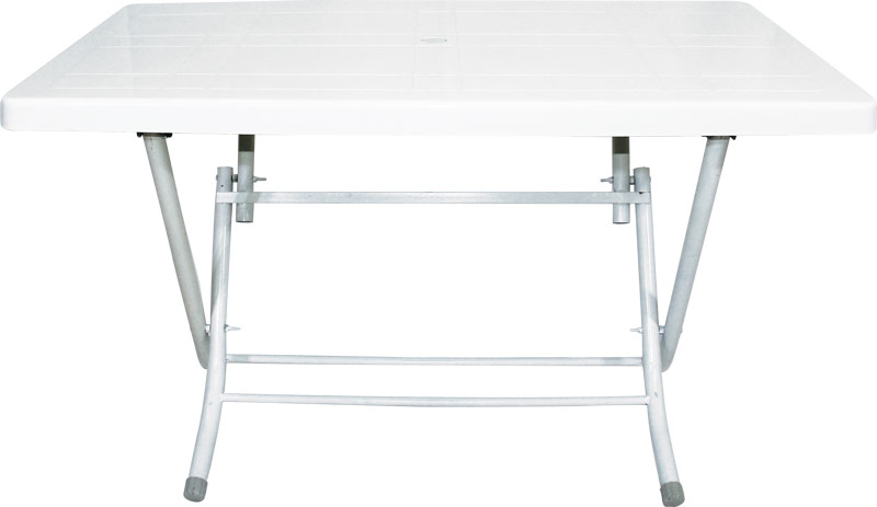 """Πτυσόμενο τραπέζι """"CASUAL"""" πλαστικό σε χρώμα λευκό 120×70"""