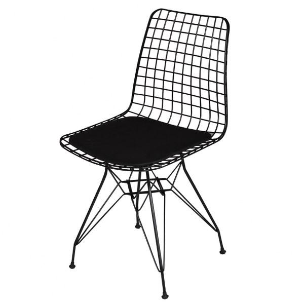 """Καρέκλα μεταλλική """"TELLI"""" σε χρώμα μαύρο 44x40x83"""
