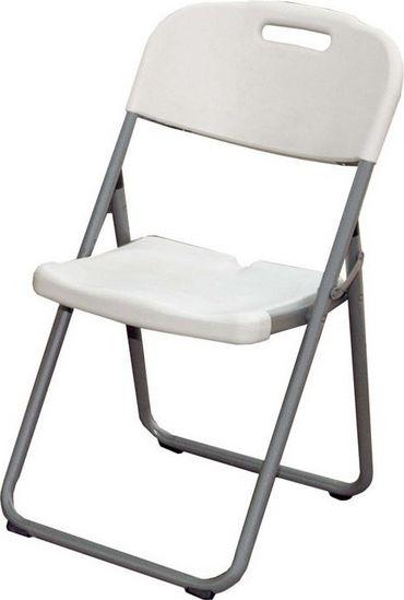 Καρέκλα catering πτυσσόμενη πολυπροπυλενίου σε λευκό χρώμα 40x44x110
