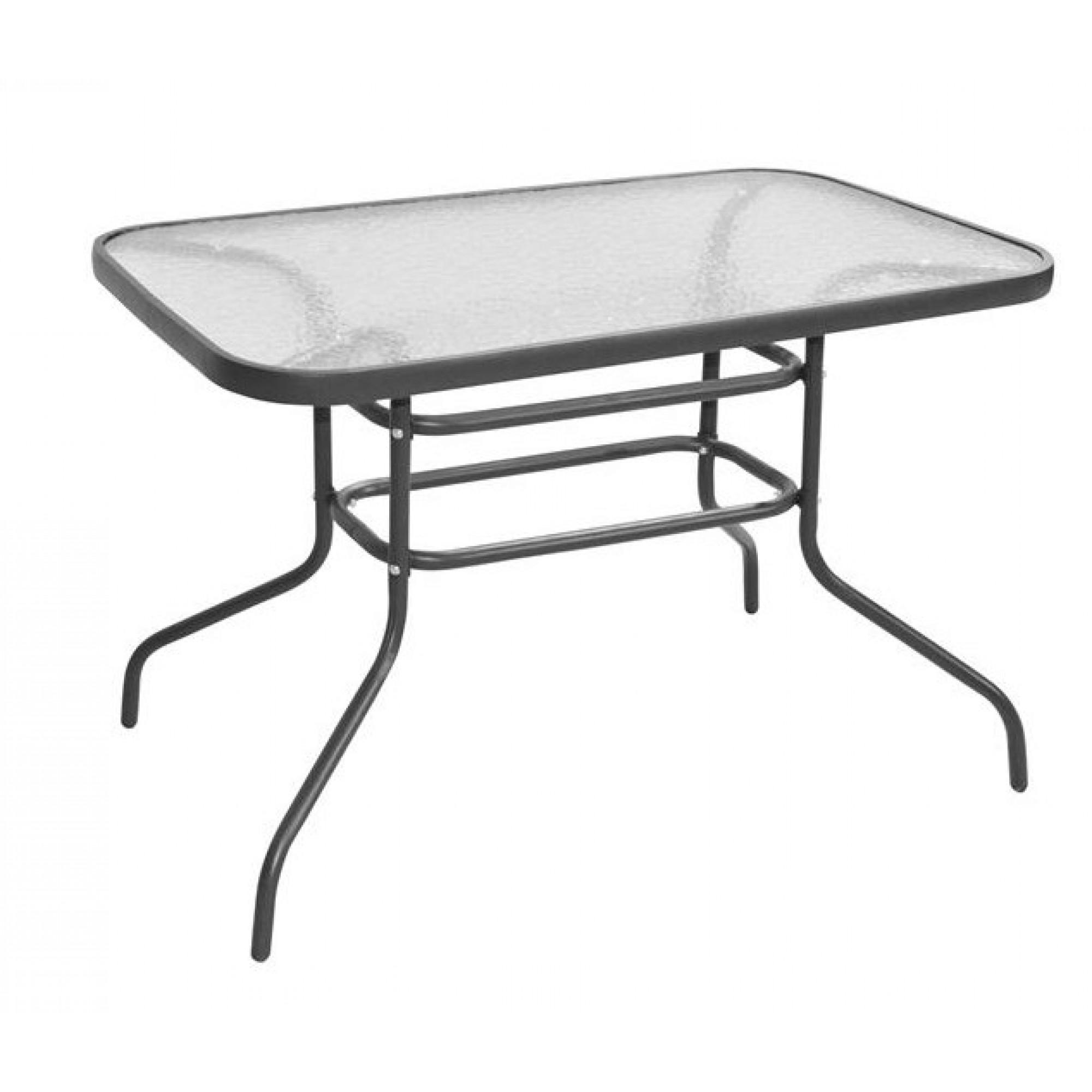 """Τραπέζι """"CARLOS"""" μεταλλικό σε ανθρακί χρώμα 120x70x70"""