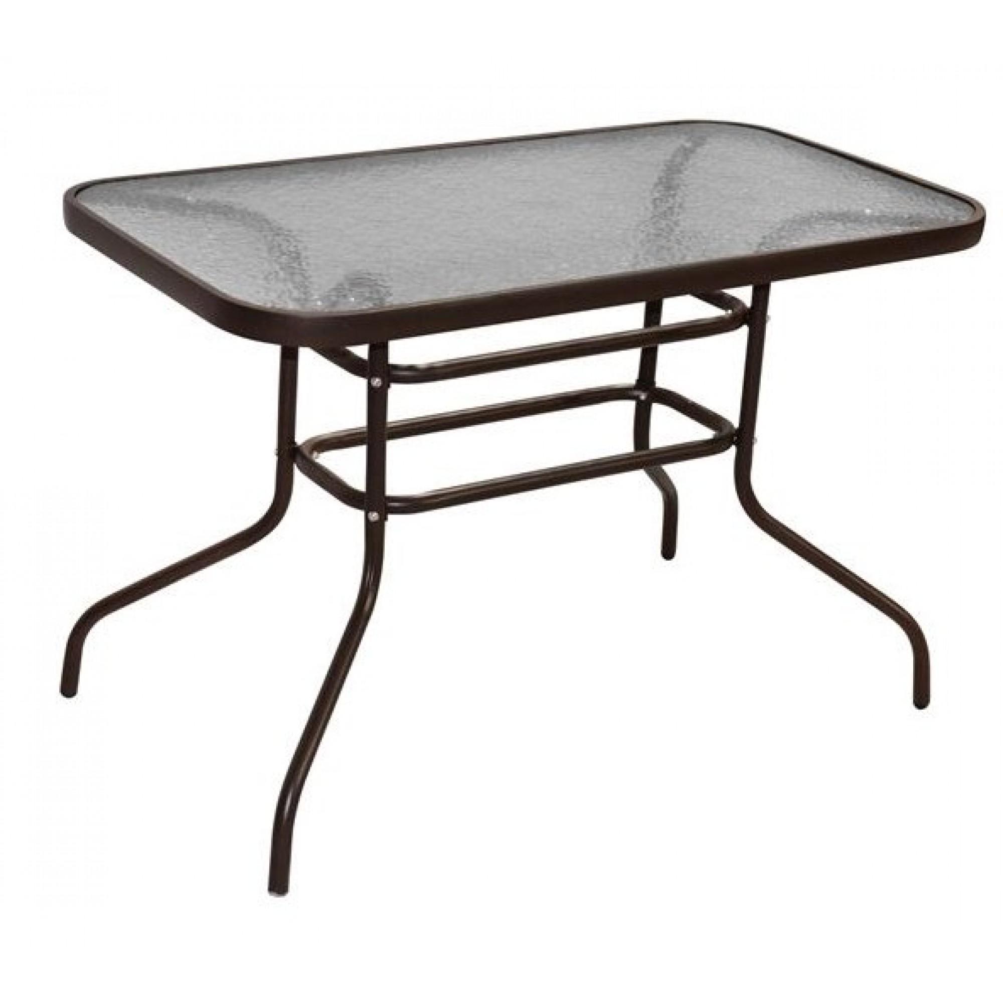 """Τραπέζι """"CARLOS"""" μεταλλικό σε καφέ χρώμα 120x70x70"""