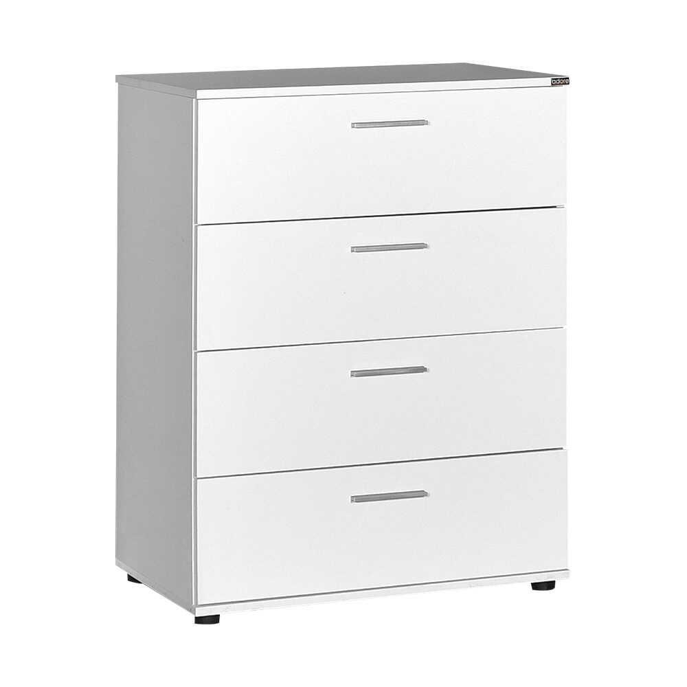 Συρταριέρα με 4 συρτάρια σε χρώμα λευκό 73x44x96