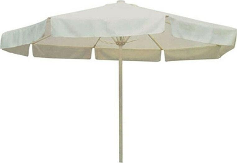 Ομπρέλα στρόγγυλη σιδερένια σε χρώμα εκρού 2,30