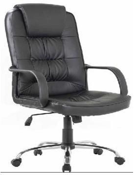 """Πολυθρόνα """"MANAGER"""" από PU σε χρώμα μαύρο 63x68x110/120"""