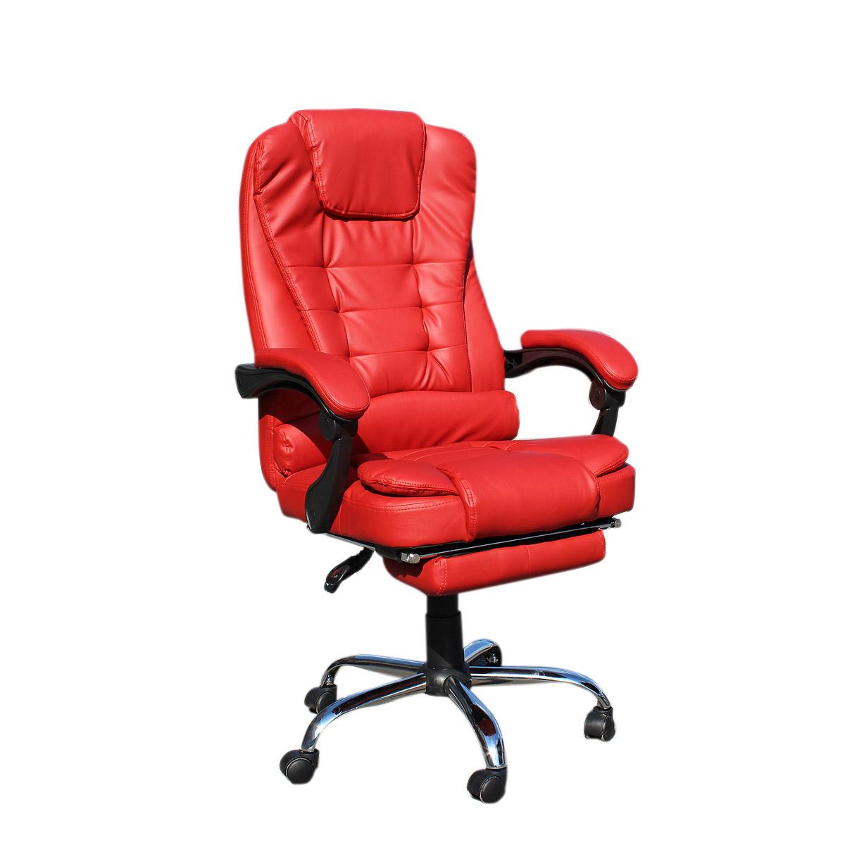 """Πολυθρόνα """"MANAGER"""" με επεκτεινόμενο υποπόδιο σε χρώμα μπορντώ 67x72x127/137"""