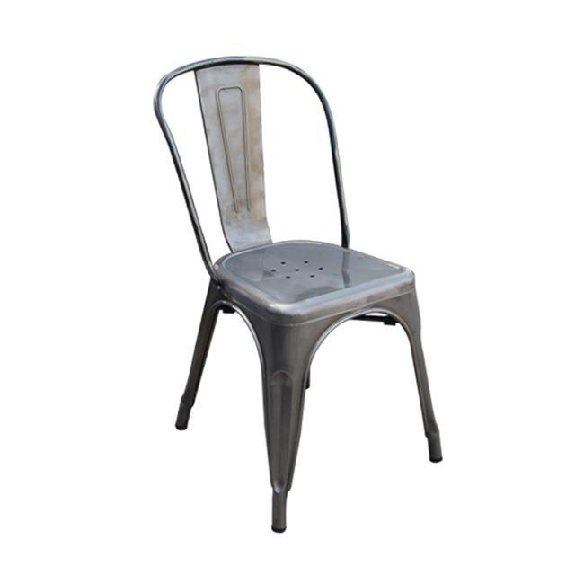 """Καρέκλα """"RELIX"""" μεταλλική σε χρώμα ασημί 45x51x85"""