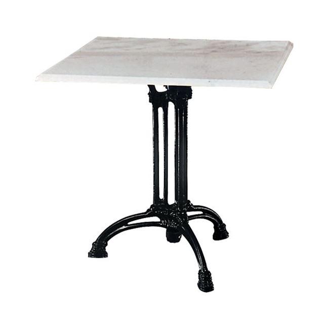 """Τραπέζι """"EKO"""" τρίνυχο με μαύρο σκελετό και μαρμάρινη επιφάνεια 70x70x74"""