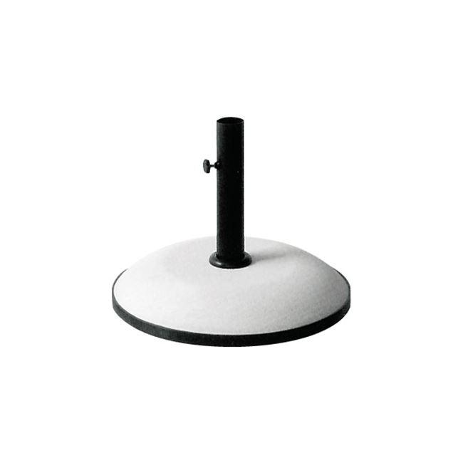 Βάση ομπρέλας τσιμέντου 25kg. σε λευκό χρώμα Φ50