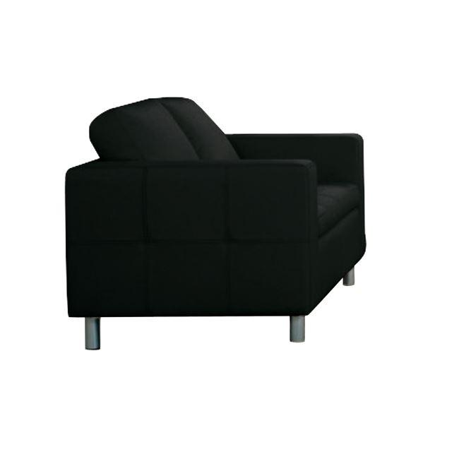"""Καναπές """"ALAMO"""" διθέσιος από pu σε μαύρο χρώμα 145x85x82"""