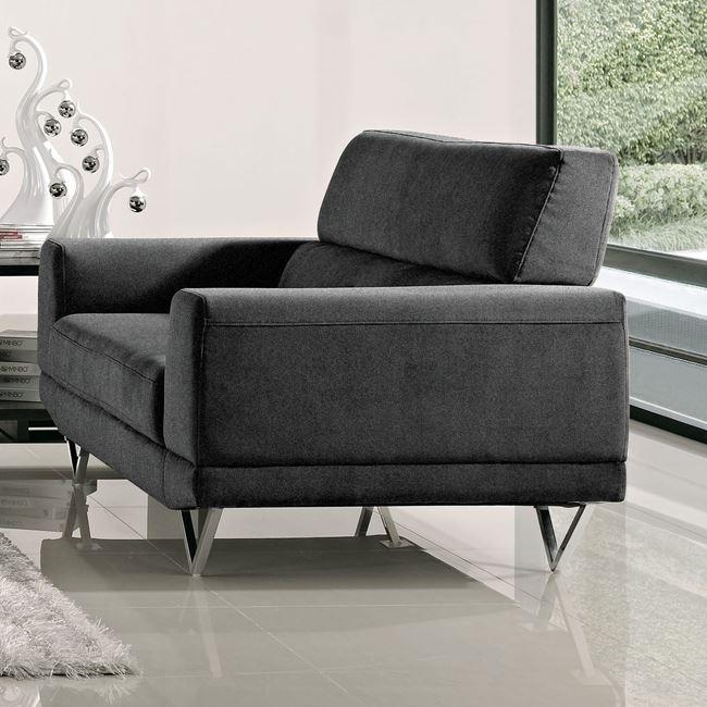 """Πολυθρόνα """"TORINO"""" υφασμάτινος σε ανθρακί χρώμα 112x86x86"""