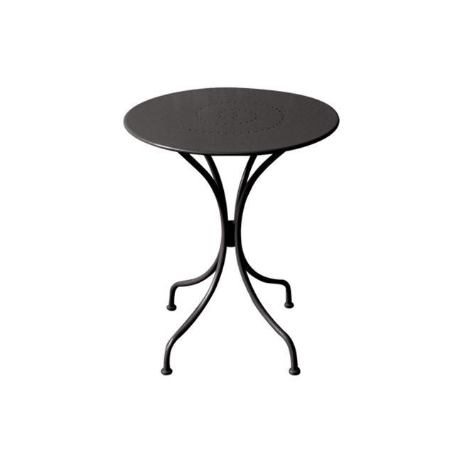 """Τραπέζι """"PARK"""" μεταλλικό σε χρώμα μαύρο 60×70"""