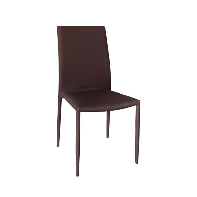 """Καρέκλα """"REGINA"""" υφασμάτινη (αδιάβροχη) σε καφέ χρώμα 41x51x91"""