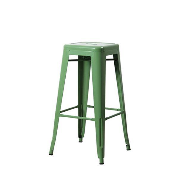 """Σκαμπώ μπαρ """"RELIX BAR"""" μεταλλικό σε πράσινο χρώμα 43x43x76"""