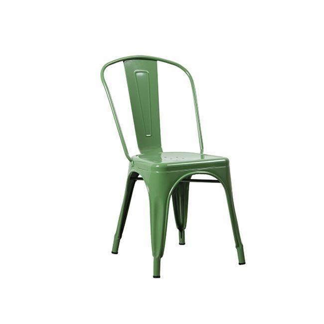 """Καρέκλα """"RELIX"""" μεταλλική σε χρώμα πράσινο 45x51x85"""