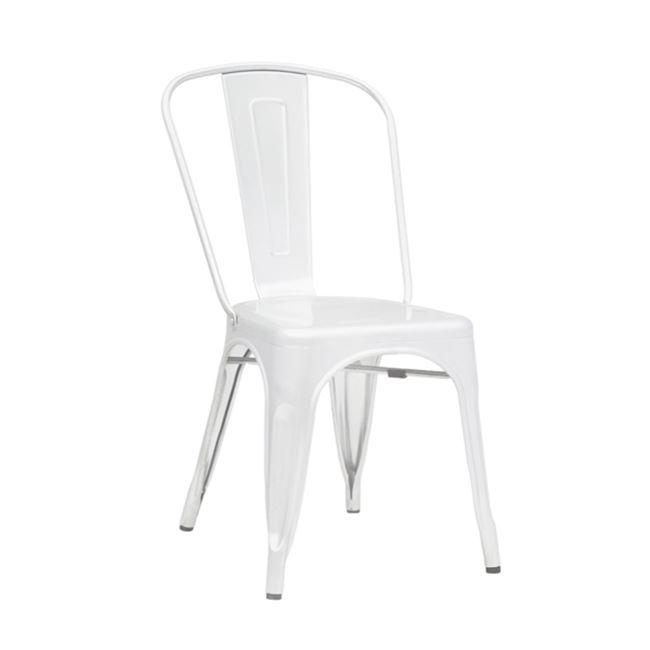 """Καρέκλα """"RELIX"""" μεταλλική σε χρώμα λευκό 45x51x85"""