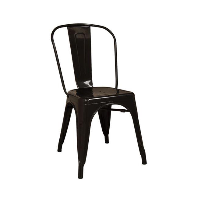 """Καρέκλα """"RELIX"""" μεταλλική σε μαύρο χρώμα 45x51x85"""
