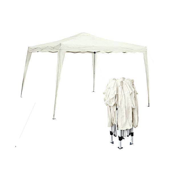 """Κιόσκι """"GAZEBO"""" μεταλλικό-υφασμάτινο σε λευκό χρώμα 3×3"""
