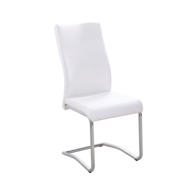"""Καρέκλα """"BENSON"""" χρωμίου-pvc σε χρώμα εκρού 46x52x97"""