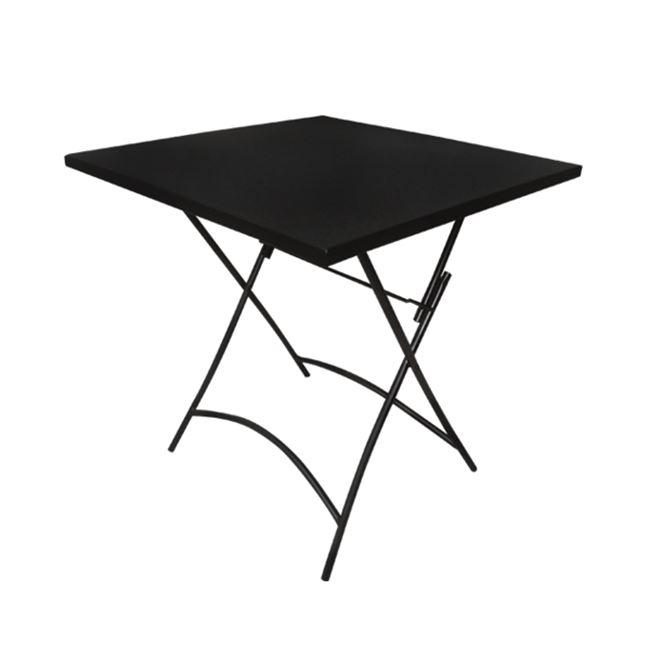 """Τραπέζι """"PARK"""" μεταλλικό πτυσσόμενο σε μαύρο χρώμα 70x70x71"""