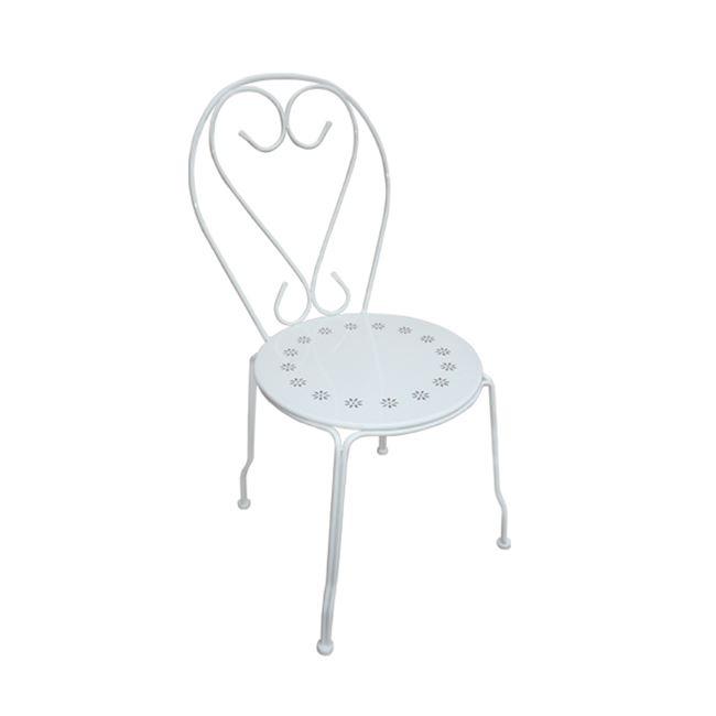 """Καρέκλα """"BISTRO"""" μεταλλική σε λευκό χρώμα 41x48x90"""