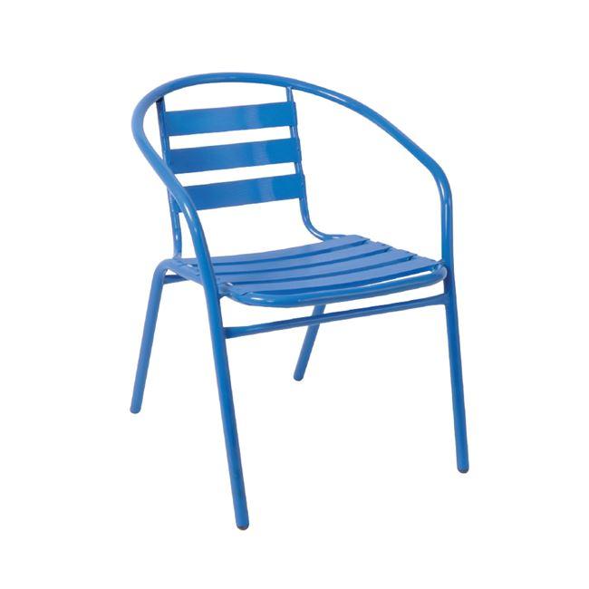 """Πολυθρόνα """"FUNKY"""" από μέταλλο-αλουμίνιο σε μπλε χρώμα 54x57x73"""