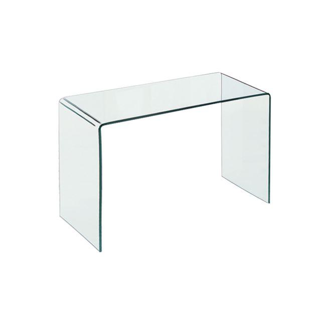 """Τραπέζι """"GLASSER"""" γυάλινο διάφανο 120x60x75"""