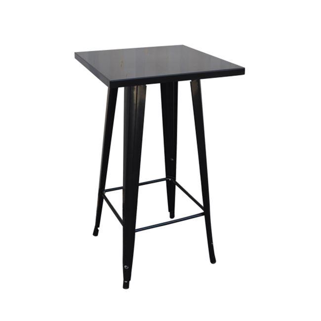 """Τραπέζι μπαρ """"RELIX"""" μεταλλικό σε αντικέ μαύρο χρώμα 60x60x101"""