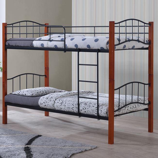 """Kρεβάτι-κουκέτα """"PALOMA"""" μεταλλική σε χρώμα μαύρο 97x210x150"""