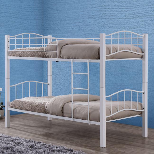 """Kρεβάτι-κουκέτα """"PALOMA"""" μεταλλικό σε χρώμα λευκό 97x210x150"""