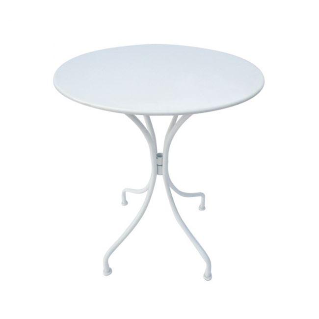 """Τραπέζι """"PARK"""" μεταλλικό σε χρώμα λευκό 60×70"""