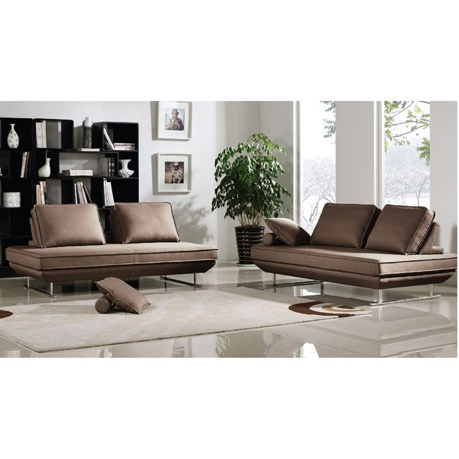 """Καναπές """"OREGON"""" πολυμορφικός από ύφασμα σε σκούρο καφέ 305x200x86"""