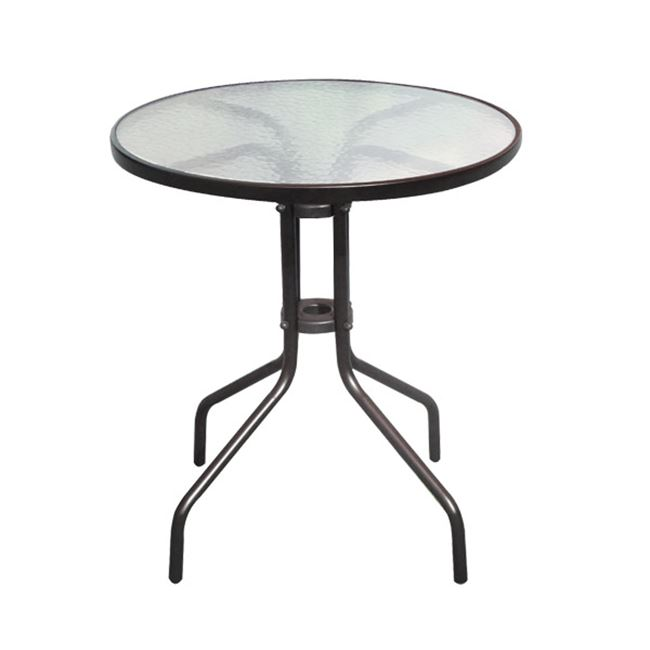 """Τραπέζι """"BALENO"""" μεταλλικό σε χρώμα καφέ 60×70"""