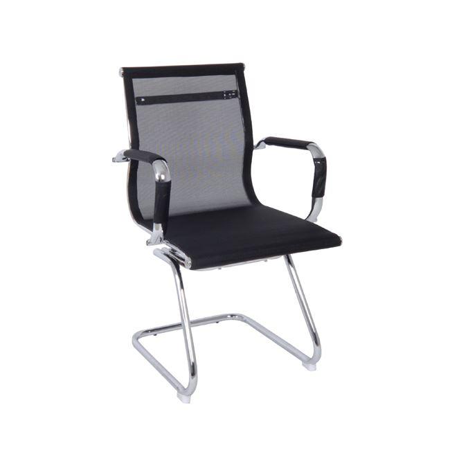 Πολυθρόνα επισκέπτη από ύφασμα mesh σε μαύρο χρώμα 54x59x95